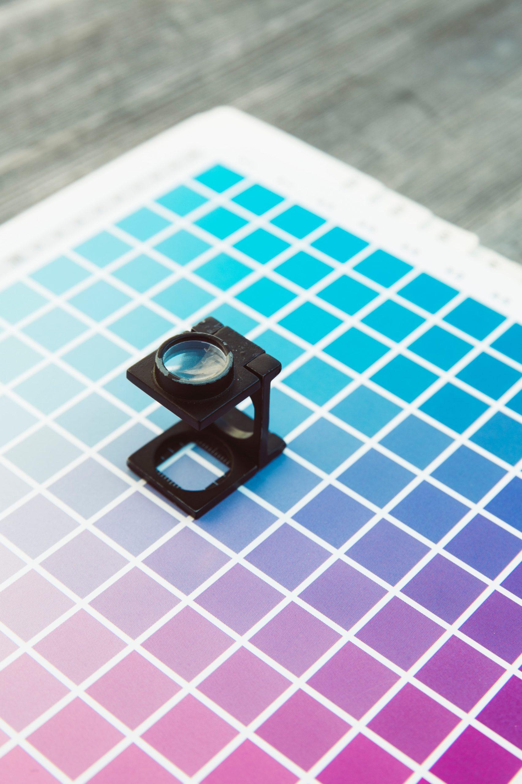 Jausteenus printimise värvipalett